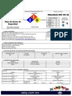 Hoja Seguridad Aceite Hidraulico Iso Vg32