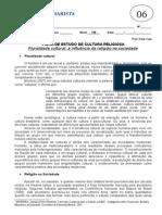 Pluralidade Cultural a Influencia Da Religiao Na Sociedade - Ficha 06 - 1 Ano - Cultura Religiosa