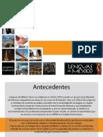 Presentacion 2015 Lenguas de México
