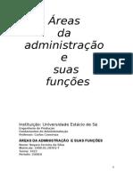 Areas Da Administração e Suas Funçoes