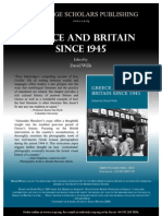 Greece and Britain Since 1945 Poster