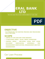 Federal Bank Process improvement