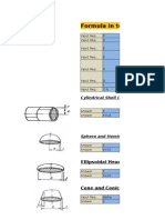 Vessel Thickness Calculation