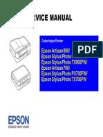 Epson Artisan 700 800 Px800fw Tx800fw Px700fw Tx700fwl