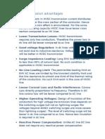 HVDC Transmission Advantages