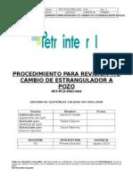 PET-PCD-PRO-002 Revisión Y-o Cambio de Estrangulador a Pozo
