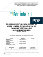 PET-PCD-PRO-004 Procedimiento Para Medir El Nivel Lineal de Crudo de Un Tanque Vertical de Almacenamiento