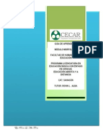 Guía de Aprendizaje para el módulo Morfolofisiología VII Semestre CAT Sahagún -CECAR-