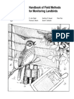 Handbook of Field Methods for Monitoting Landbirds