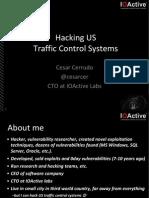 DEFCON 22 Cesar Cerrudo Hacking Traffic Control Systems UPDATED