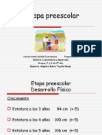 6  Etapa preescolar
