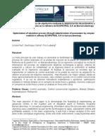 Optimización del proceso de alquilación mediante la determinación de parámetros a partir del método simplex en la refinería de ECOPETROL S.A en Barrancabermeja