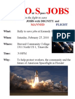 Rally to Save our Space Jobs