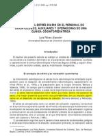 Análisis Del Estrés Diario en El Personal de Una Clínica de Odontopediatría9
