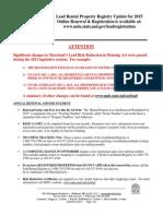 2015 Lead Rental Registration Update