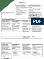 Cuadro resumen filiación