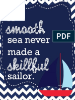 Nautical Quotes Classroom Posters