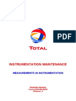 Measurements in Instrumentation