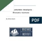 stakeholder analysis paper