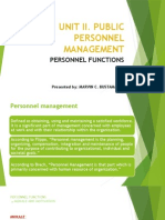 PPA 212 Personnel Functions