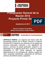 PGN 2015 Modificaciones Primer Debate