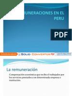 Remuneraciones en El Peru Diapositivas