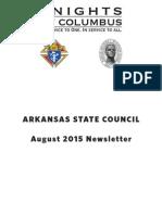 Arkansas Knights of Columbus Newsletter August 2015