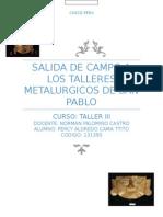 Metalurgia en San Pablo