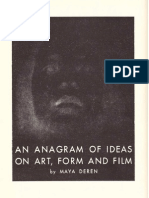 Deren Maya an Anagram of Ideas on Art Form and Film