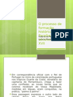 O Processo de Formação Histórica Da Paraíba