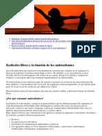 Radicales libres y la función de los antioxidantes - Nutracenter®