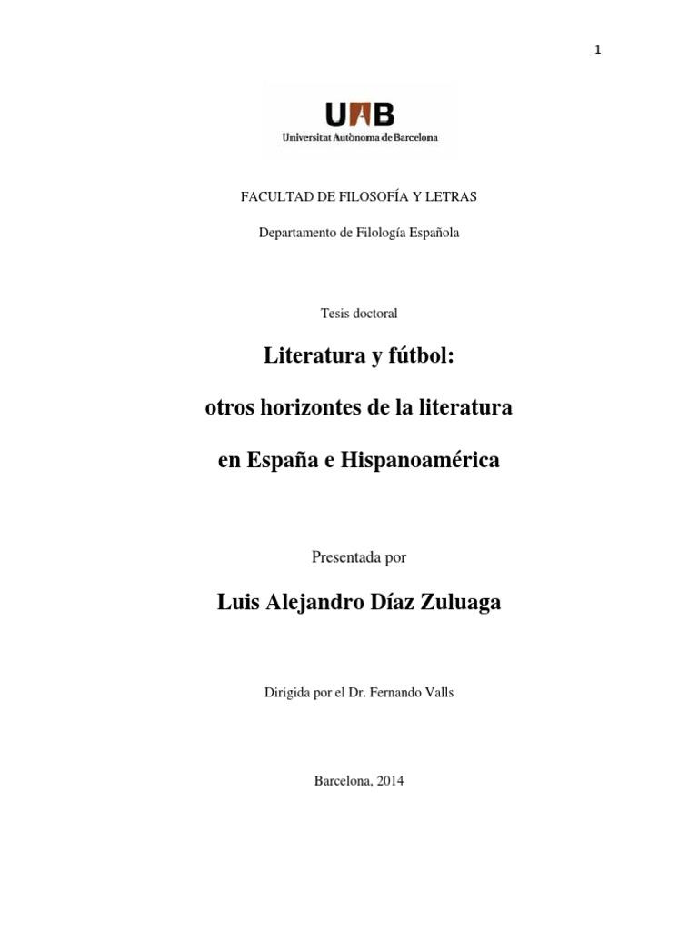Tesis Futbol en La Literatura d08711d6578d8