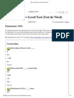 Ejercicio Inglés_ Level Test (Test de Nivel)