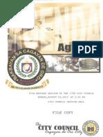 Agenda of the 97th Regular Session