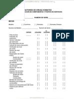 Material Lista Verificacion Componentes Puntos Servicio Tractores Komatsu