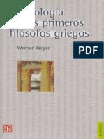 Werner, Jaeger - La Teología de Los Primeros Filósofos Griegos