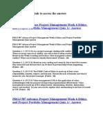 PROJ 587 Advance Project Management Week 6 Ethics and Project Portfolio Management Quiz