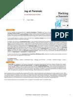 Hacking Et Forensic - Développez Vos Propres Outils en Python