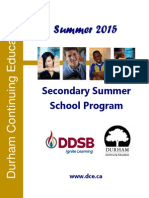 DDSB 2015 Summer School Brochure - Final Updated June