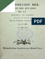 Constitucion de 1830 ORIGINAL