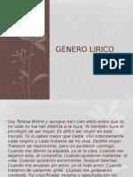 Género Lirico Clase 1