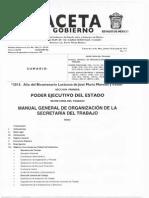 Manual General de Organizacion de La Secreataria de Trabajo