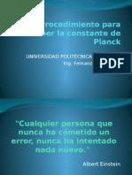 Procedimiento Para Obtener La Constante de Planck