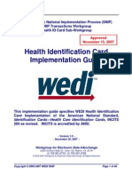 WEDI Health ID Card Approved