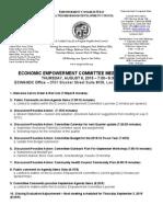ECWANDC Economic Empowerment Committee Agenda - August 6, 2016