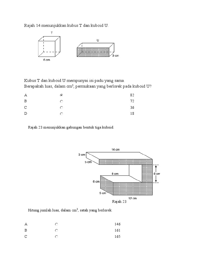 Soalan Kbat Matematik Tahun 6