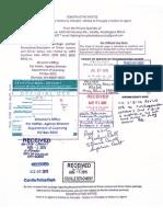 Notice of Travel Package to Rasmussen - 7-30-15