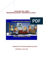 Antologia Del Curso Descentralizacion y Desarrollo Local