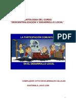 Antologia Del Curso Descentralizacion y Desarrollo Local