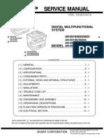 Sharp AR-5623 Service Manual
